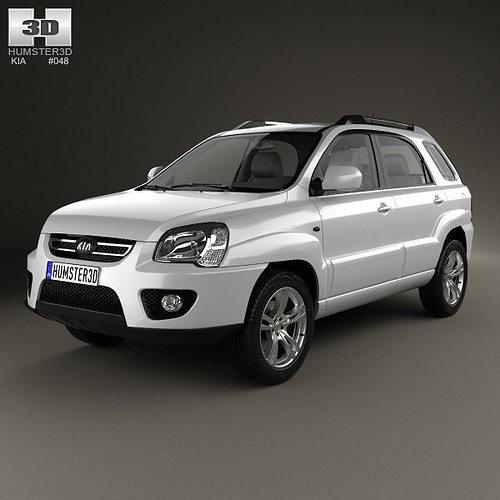 2008 Kia Sportage Interior: 3D Kia Sportage 2008