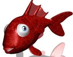 Goldfish Cartoon 3D Model