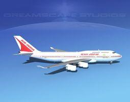 Boeing 747-400 Air India 3D
