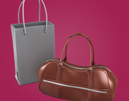 3D Woman Leather Handbags