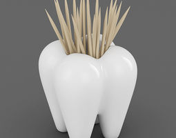 Tooth Toothpick Holder 03 3D Model