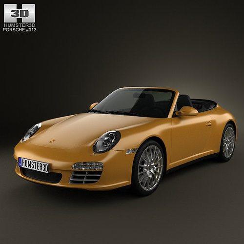porsche 911 carrera 4 cabriolet 2011 3d model max obj 3ds fbx c4d lwo lw lws 1