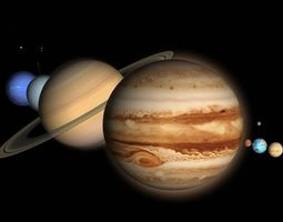 3d asset solar system