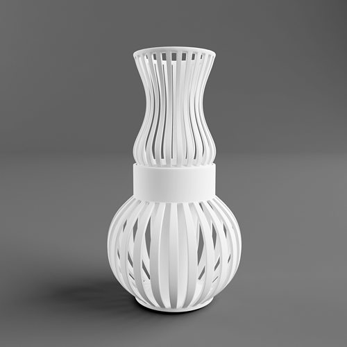 3d Printable Model Wire Vase Two Parts Cgtrader