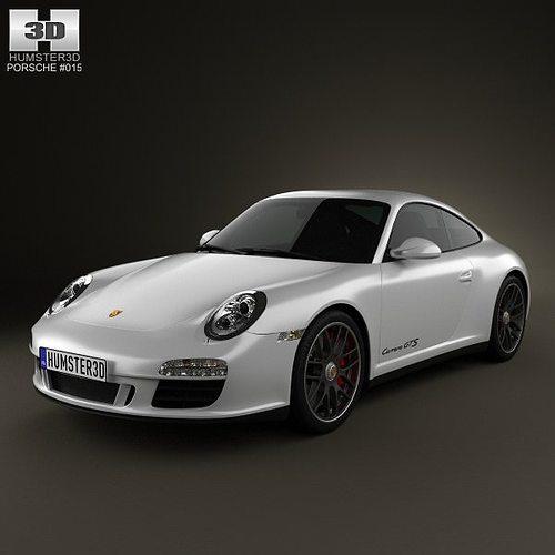 porsche 911 carrera gts coupe 2011 3d model max obj mtl 3ds fbx c4d lwo lw lws 1