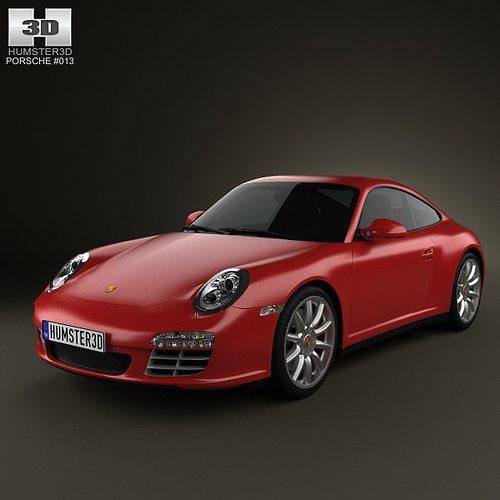 porsche 911 carrera 4s coupe 2011 3d model max obj 3ds fbx c4d lwo lw lws 1