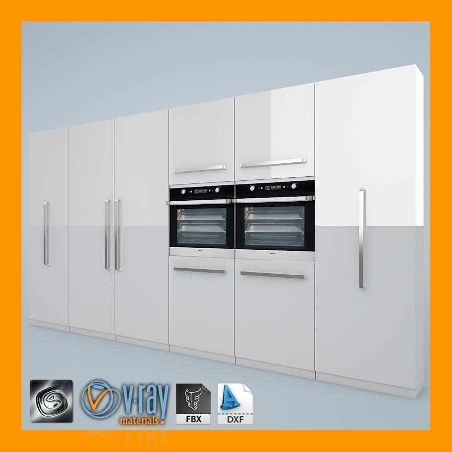 Kitchen set 01 3d model max obj 3ds fbx dxf for Model kitchen set