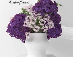 3D Hydrangea purple europe