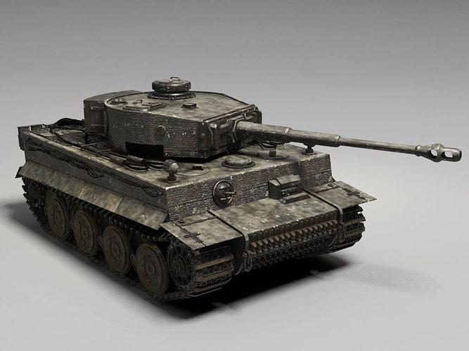 D german tiger tank cgtrader
