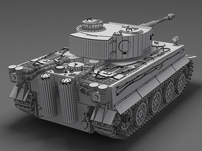 German 50 Mm Anti Tank Gun: German Tiger Tank Free 3D Model MAX 3DS SKP