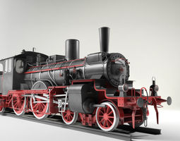 3D model Prussian P4 BR36 Steam Locomotive