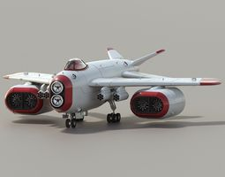 animated d-1 space superiority fighter hd 3d