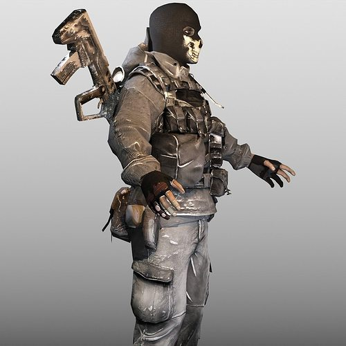 3d asset ghost soldier cgtrader