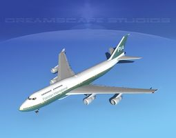 3D Boeing 747-400 Pakistan