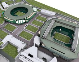 Wimbledon Tennis Club - London 3D model