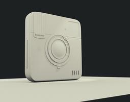 polaroid  socialmatic concept 3d model obj 3ds fbx