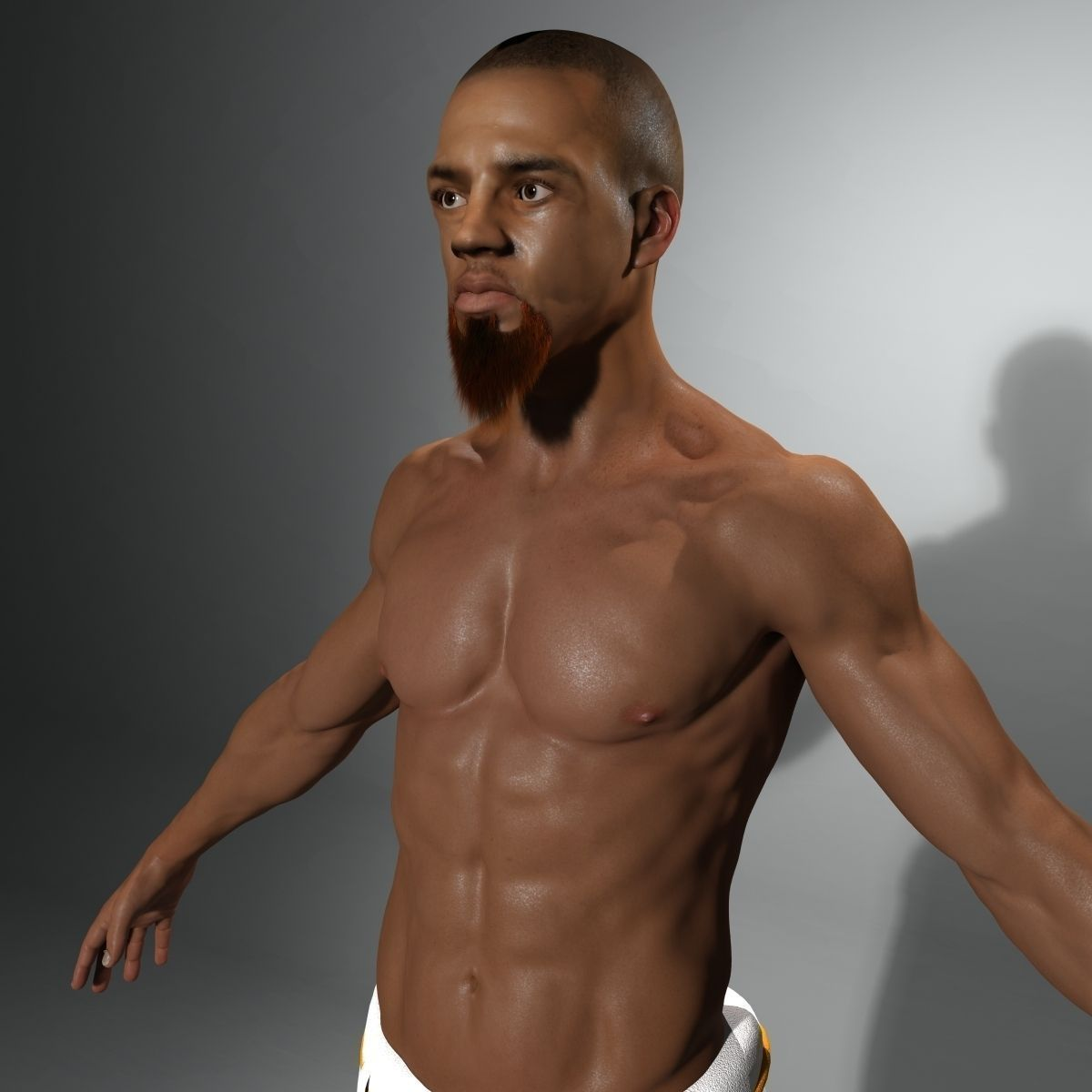 3d model capoeira warrior not rigged | cgtrader