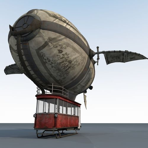 zeppelin 3d model max obj mtl 3ds fbx c4d blend 1