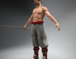 Bo Fighter Not Rigged 3D Model