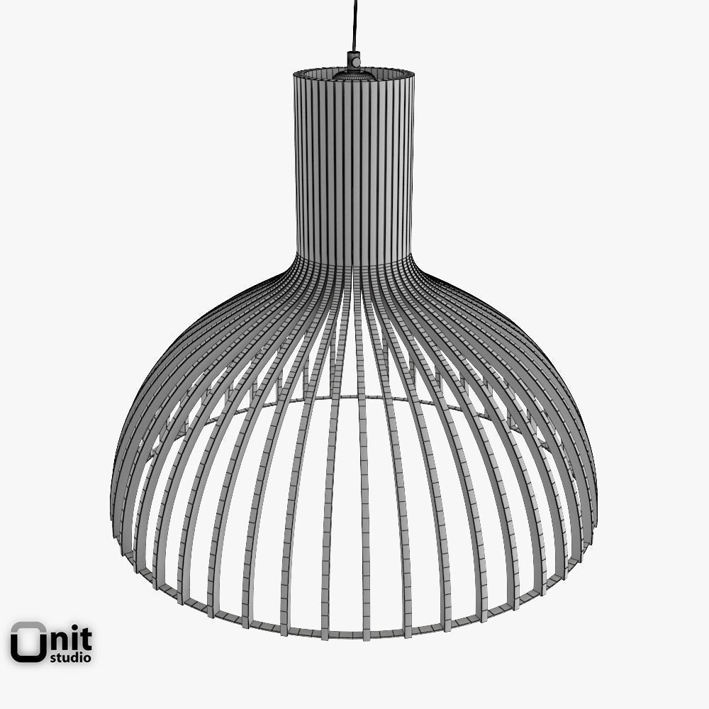 Victo 4250 Pendant Light By Secto 3D Model MAX OBJ 3DS FBX