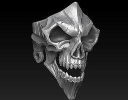 jewellerychallenge 3D printable model Skull Ring