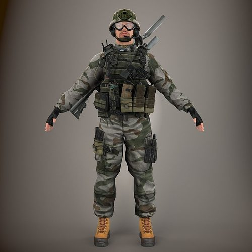 Ultimate Soldier NR 3D model | CGTrader