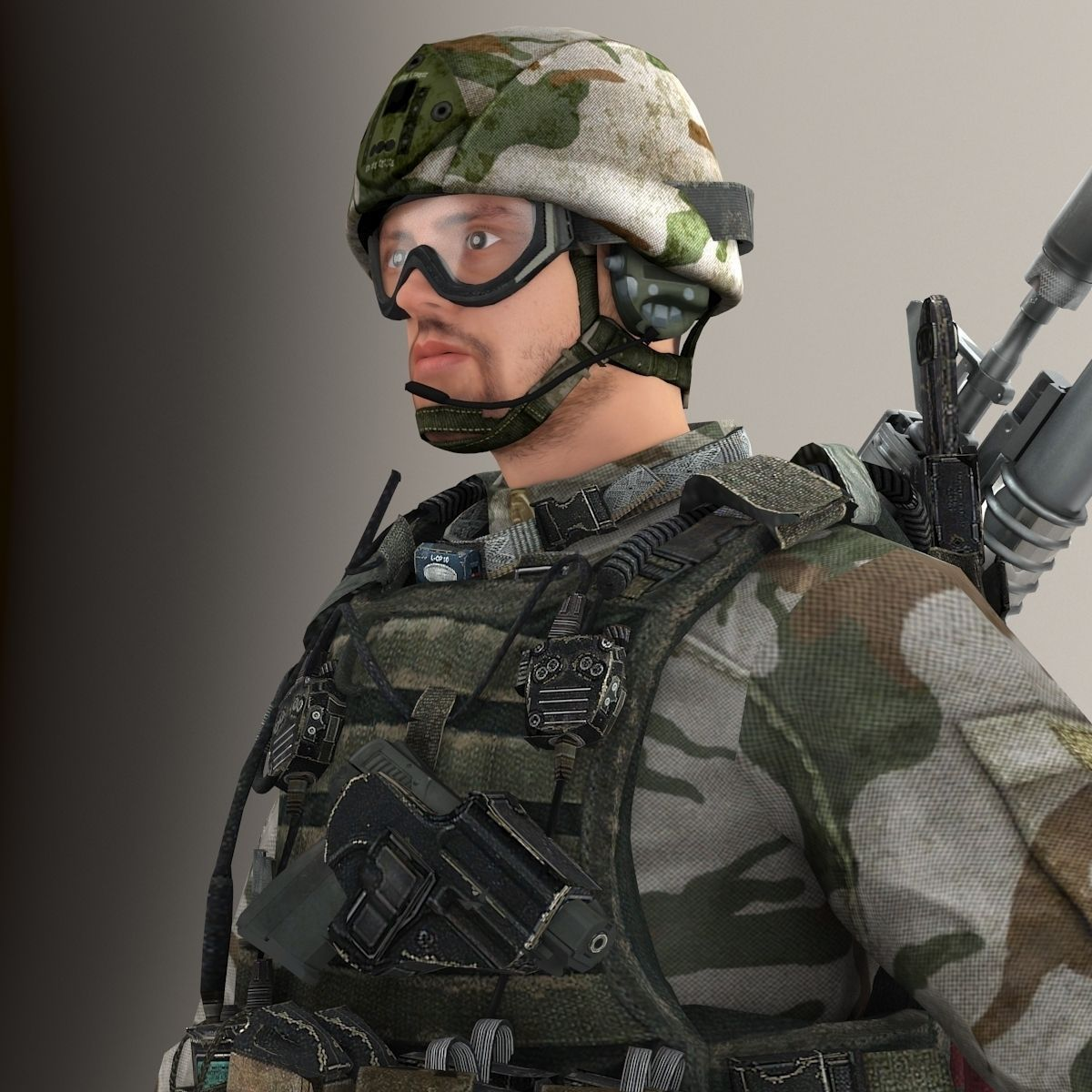 Ultimate Soldier NR 3D Model MAX FBX | CGTrader.com