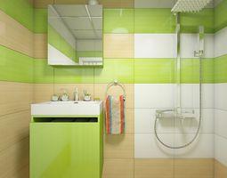 Bathroom 3D room-design