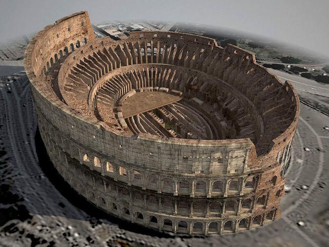 roman colosseum ruins 3d model max obj mtl 3ds fbx c4d lwo lw lws 1