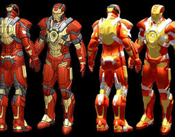 3d print model iron man mk17 iges