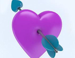3D model HEART with arrow
