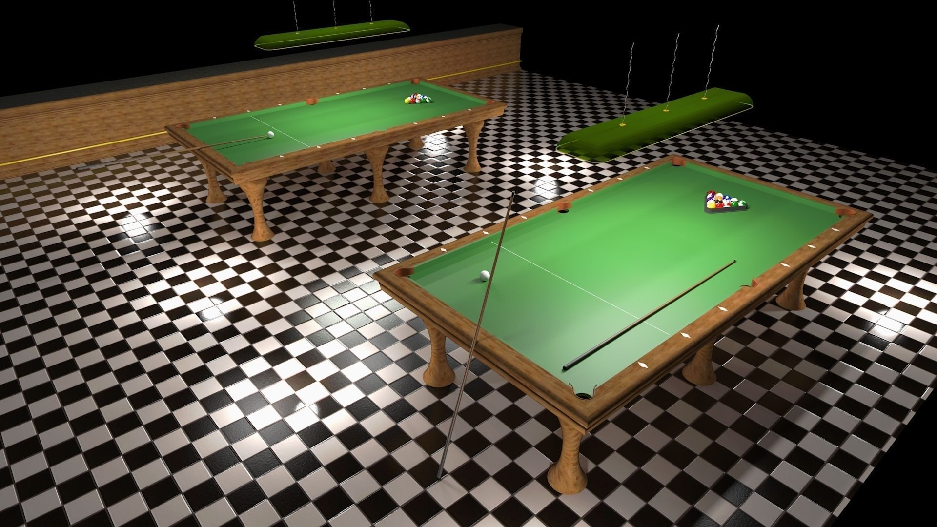 Miniature Pool Table 3d Model 3d Printable Obj Skp