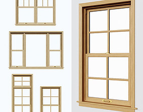 3D model Double Hung Windows