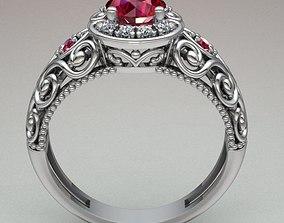 engagement ring-women Jewelry Ring Women 3D printable model