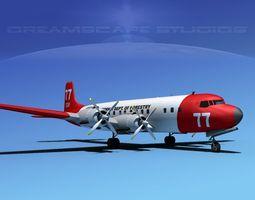 Douglas DC-7C California Fire 3D model