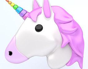 UNICORN emoji icon 3D asset