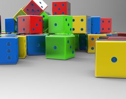 3d printable model standard dice