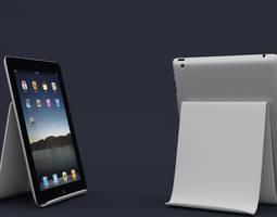 3D printable model tablet stand