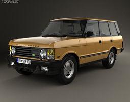 3D model Land Rover Range Rover 1986