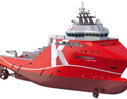 95 m AHTS Supply Vessel KL SALTFJORD 3D Model