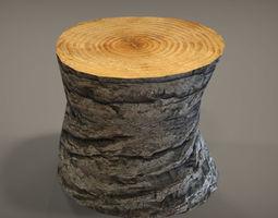 3D asset Tree Trunk