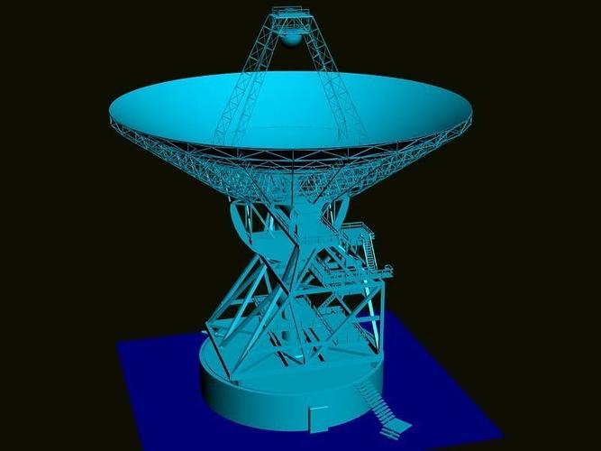 satellite antenna 3d model max obj mtl fbx 1