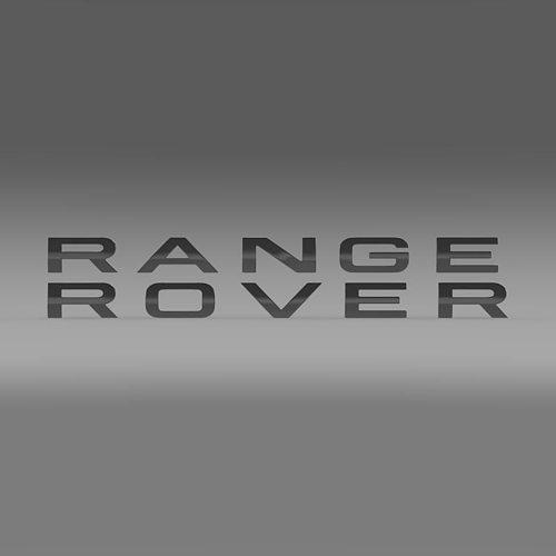 Range Rover lettering logo 3D model | CGTrader
