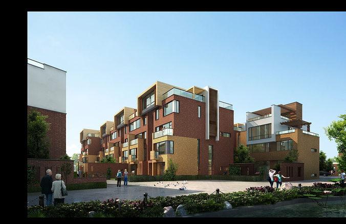 villa 3d model 3d model max 1