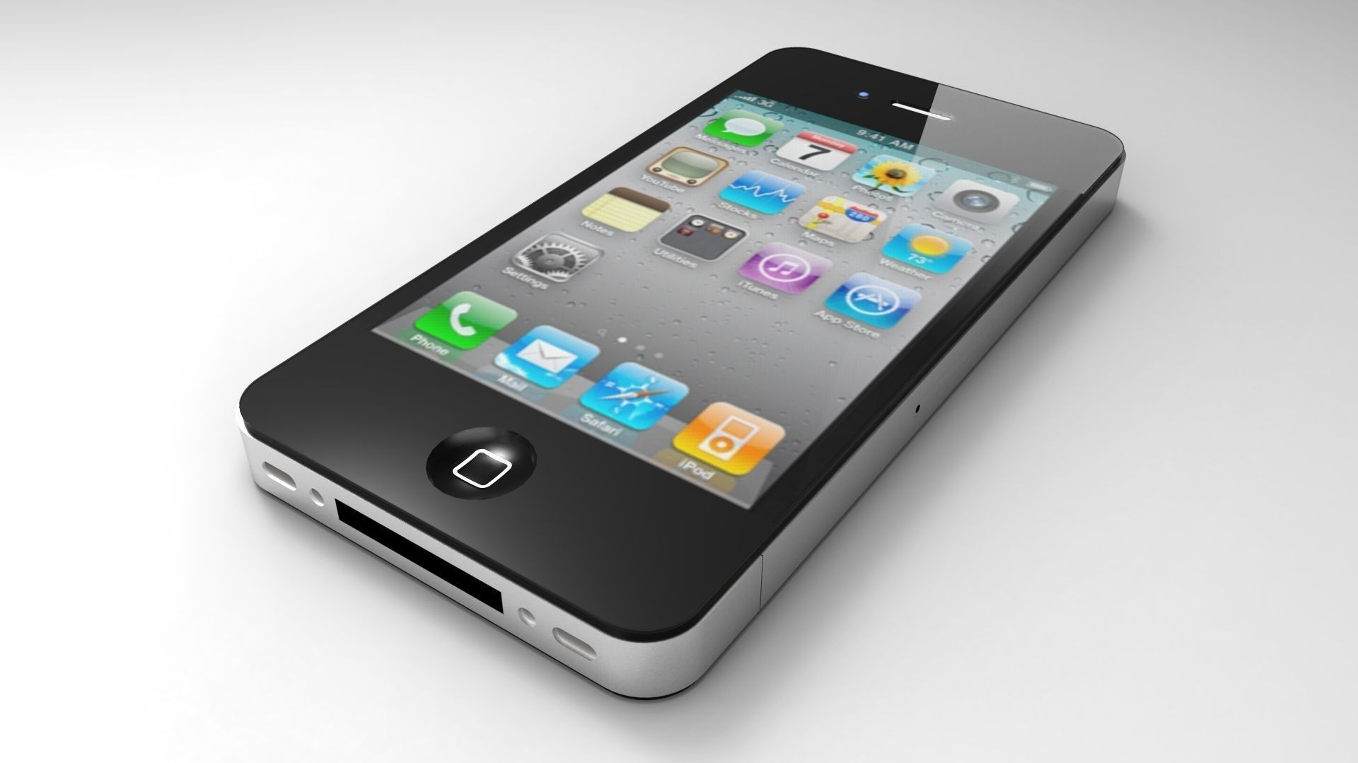 Iphone 4 Model 3d Model 3d Printable Obj Skp Cgtrader Com
