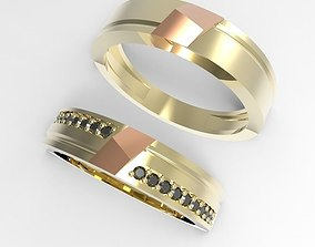 Center point rings 3D print model