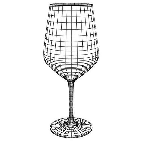 6 wine glass collection 3d model max obj 3ds fbx 26
