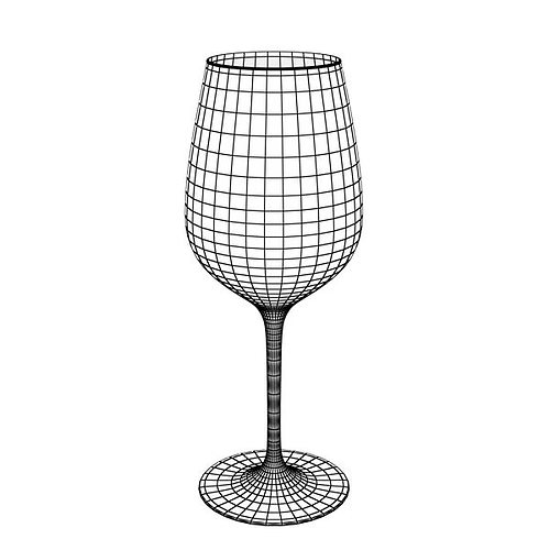 6 wine glass collection 3d model max obj 3ds fbx mtl mat 14