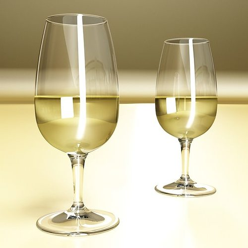 6 wine glass collection 3d model max obj 3ds fbx mtl mat 8