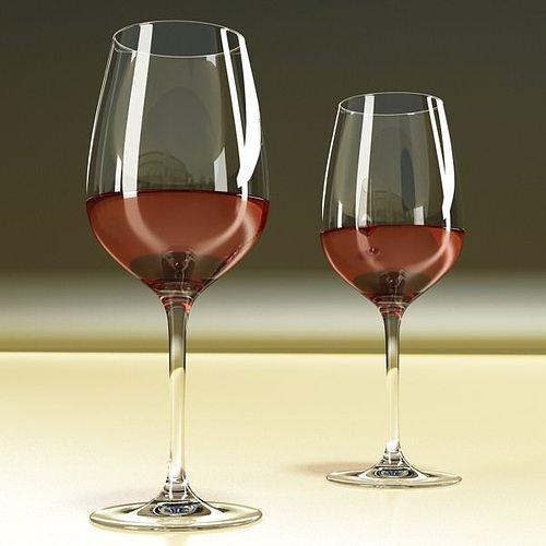 6 wine glass collection 3d model max obj 3ds fbx 12